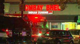 Le restaurant Bombay Bhel, dans la banlieue de Toronto, lieu de l'explosion ayant fait quinze blessés.