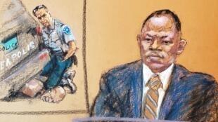 Le sergent Jody Stiger témoigne lors du procès de George Floyd le 6 avril 2021.
