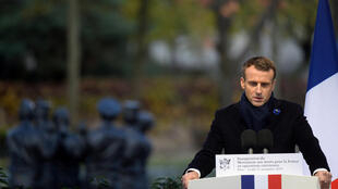 Macron unveils monument to French soldiers killed overseas.