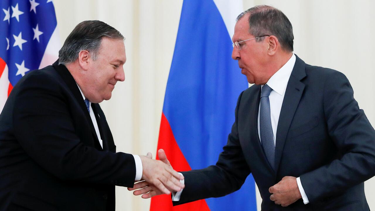 El secretario de Estado estadounidense Mike Pompeo se reunió este martes 14 de mayo de 2019 en Sochi, Rusia, con Serguéi Lavrov.