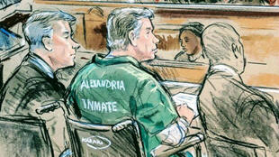 L'ancien directeur de la campagne Trump, Paul Manafort, devant le tribunal d'Alexandria, en Virginie, le 7 mars 2019.