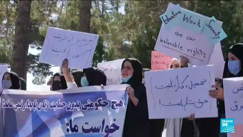 2021-09-03 17:05 Afghan women rally for rights in western region
