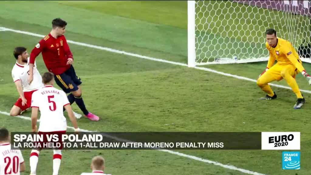 2021-06-19 23:50 Euro 2020: Spain held to 1-1 draw by Poland