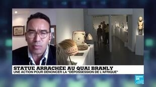 """2020-06-15 14:17 Ils voulaient """"récupérer"""" une oeuvre africaine au Quai Branly : 5 militants jugés fin septembre"""