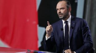 """Édouard Philippe lors de """"L'Émission politique"""", sur France 2, diffusée jeudi 27 septembre 2018."""
