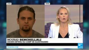 Mourad Benchellali répond aux questions de France 24 après la publication du rapport sur les interrogatoires de la CIA, le 9 décembre 2014.