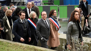 François Hollande en déplacement officiel à Aubervilliers (Seine-Saint-Denis), le 14 février 2017.