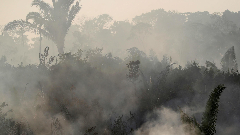 Incendio en la Amazonía brasileña, cerca de Humaita, el 22 de agosto de 2019.