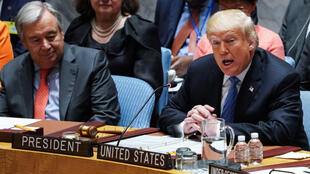 Donald Trump, mercredi 26 septembre face au Conseil de sécurité de l'ONU.
