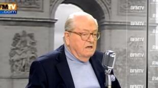 Jean-Marie Le Pen était l'invité de Jean-Jacques Bourdin, le 2 avril