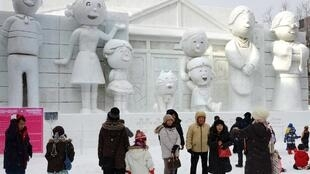 Sazae-san is a hugely popular and long-running cartoon in Japan, where its characters have been featured at the annual Sapporo snow festival