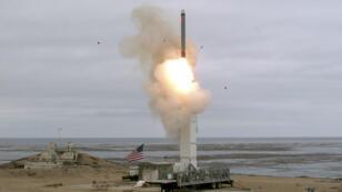 Les États-Unis ont testé un missile conventionnel de portée intermédiaire depuis l'île de San Nicolas, au large de la Californie, le 18 août 2019.