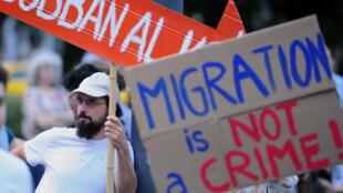Manifestation contre la politique migratoire de Viktor Orban, le 19 mai 2015, à Budapest.