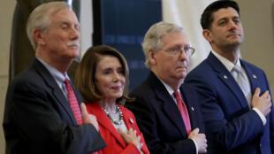 Démocrates et républicains se sont satisfaits du texte présenté mercredi 21 mars 2018.