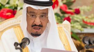 الملك سلمان بن عبد العزيز بمكة في 24 أيلول/سبتمبر 2015