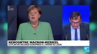 2020-06-29 10:09 Rencontre Macron-Merkel : le plan de relance européen à l'ordre du jour