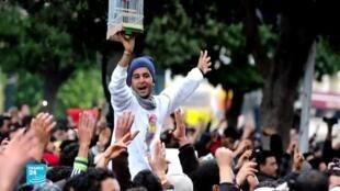 إحدى الصور الرمزية للثورة التونسية