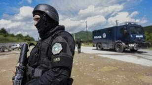 """Kosovo special police said they met """"armed resistance"""" in some of the mainly Serb north, as well as blockades from citizens who tried to prevent the crackdown on organised crime"""