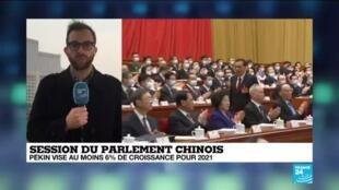 2021-03-05 07:06 Session du Parlement chinois : le système électoral de Hong Kong sera réformé
