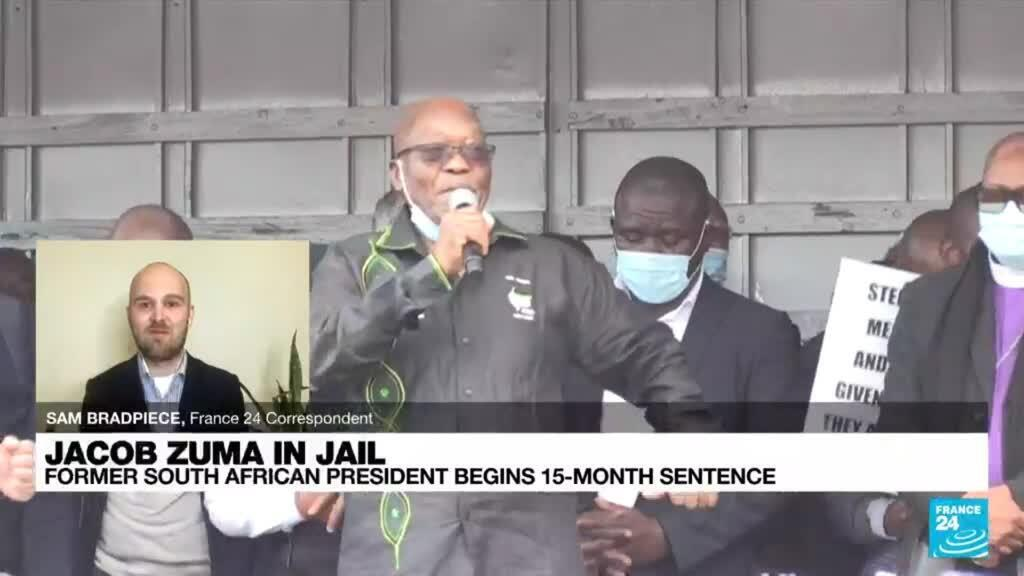 """2021-07-08 18:20 """"Jacob Zuma will be treated as any other prisoner"""" as he begins 15-month sentence"""