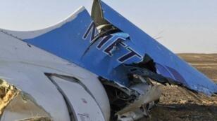 حطام الطائرة الروسية في سيناء في 31 تشرين الأول/أكتوبر 2015