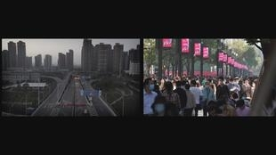 WUHAN BEFORE AFTER