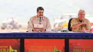 El presidente venezolano, Nicolás Maduro, preside un acto de Agricultura en Aragua este 8 de mayo donde anunció medidas especiales en la frontera con Colombia