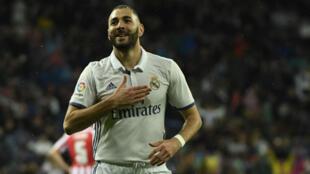 L'attaquant du Real Madrid Karim Benzema.