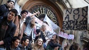 Manifestation de lycéens, jeudi 17 octobre.