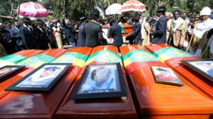 Celebran una marcha fúnebre en Adís Abeba para despedir a los etíopes que murieron en el accidente aéreo del vuelo ET302