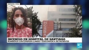 2021-01-30 18:01 Informe desde Santiago: incendio en el hospital Clínico Borja Arriarán