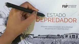 Informe 'Estado Depredador' de la Fundación para la Libertad de Prensa de Colombia.