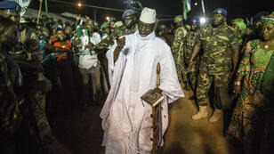 رئيس غامبيا المنتهية ولايته يحيى جامع
