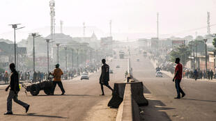 Le boulevard Lumumba à Kinshasa, en avril 2017, lors d'un précédent appel à la grève de l'opposition.