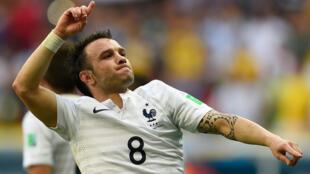 Mathieu Valbuena, le 30 juin, lors de la Coupe du monde de football