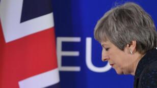 La première ministre britannique Theresa May après sa conférence de presse au sommet de Bruxelles, le 22mars2019.