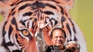 Nawaz Sharif, candidat de la Ligue musulmane pakistanaise
