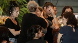 Obsèques à Gênes d'une des victimes de l'effondrement du pont de Morandi le 14 août.