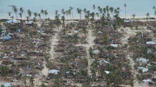 Destrozos en la provincia de Cabo Delgado tras el paso del ciclón Kenneth. Mozambique, 28 de abril de 2019.