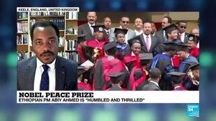 2019-10-11 18:05 Ethiopian PM Abiy Ahmed awarded for peace initiative in Eritrea
