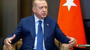 أردوغان خلال اللقاء مع الرئيس الروسي فلاديمير بوتين في منتجع سوتشي الاثنين في 17 أيلول/سبتمبر 2018