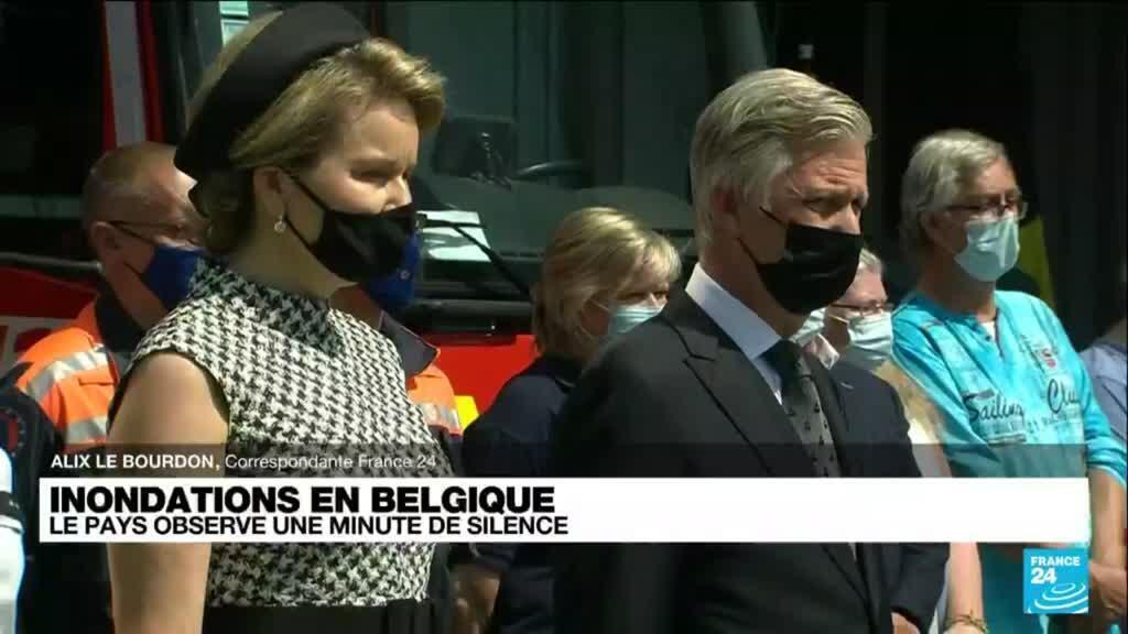 2021-07-20 12:00 Inondations en Belgique : le pays observe une minute de silence