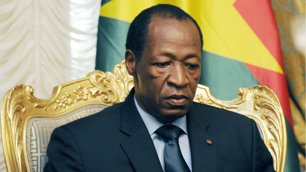 Blaise Compaoré en el palacio presidencial en Uagadugú el 26 de julio de 2014.
