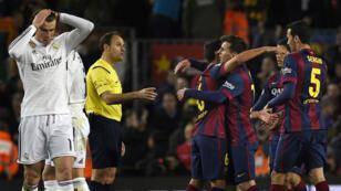 Le FC Barcelone célèbre sa victoire le 22 mars 2015 contre le Real Madrid