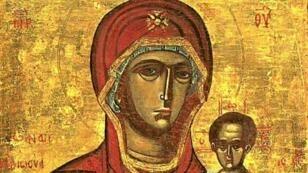 السيدة العذراء محاطة بالقديسيين. حلب-سوريا 1650