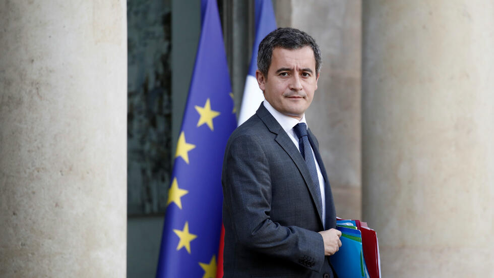 French Minister of Public Action and Accounts Gerald Darmanin leaves the Elysee Palace following the weekly cabinet meeting in Paris, France, October 21, 2019.