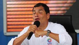Le président équatorien Rafael Correa.
