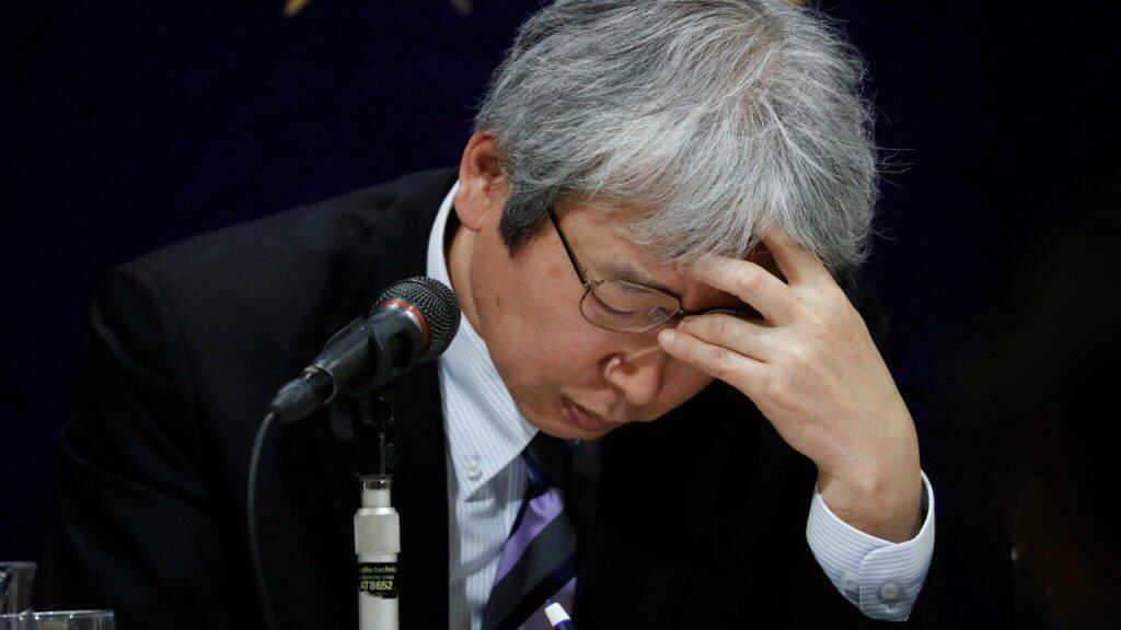 Motonari Otsuru, jefe del equipo de abogados de Carlos Ghosn, durante una rueda de prensa el 8 de enero de 2019 en Tokio, Japón.