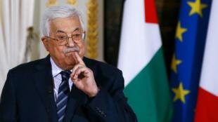 Le président de l'Autorité palestinienne Mahmoud Abbas, lors d'un déplacement à Paris, le 22 décembre 2017.