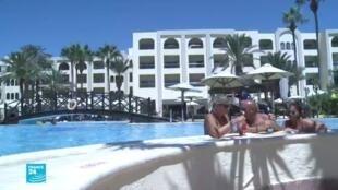 سياح فرنسيون في أحد الفنادق التونسية،